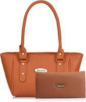 Fostelo Women Tan Messenger Bag(Pack of: 2)