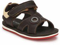 Tuskey Boys Velcro Strappy Sandals(Brown)