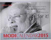 Mausam Books Inspire by Modi 2015 Table Calendar(Multicolor, NaMo)