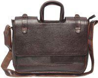 Nerita 12 inch Laptop Messenger Bag(Brown)