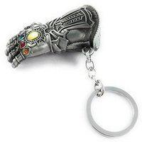 Raj Avengers Infinity War -3 New Series Thanos Gauntlet Power Stone Marvel Metal Keychain Silver   Key Ring for Car Bike Home Keys   Key Chain for Kids Mens Womens Boys Girls Key Chain