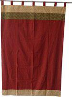 Adt Saral Cotton Multicolor Printed Eyelet Door Curtain(229 cm in Height, (7.4 ft), Single Curtain)