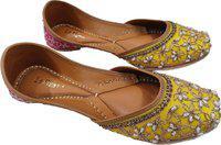 La Fiza YELLOW+RANI PINK LEATHER Jutis For Women(Yellow, Pink)