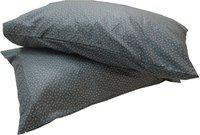 Adt Saral Printed Pillows Cover(Pack of 2, Grey)