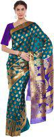 Chhabra 555 Woven Banarasi Art Silk Saree(Green)