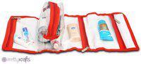 Pretty Krafts Vanity Kit Folding Rex Travel Toiletry Kit(Red)