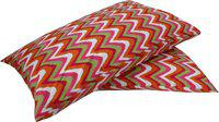 Adt Saral Abstract Pillows Cover(Pack of 2, 46 cm, Multicolor)