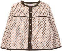 My Little Lambs Full Sleeve Printed Baby Girls Quilted Jacket