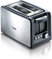 Prestige 41708 800 W Pop Up Toaster(Black, Silver)