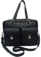 Romari 17 inch Laptop Messenger Bag(Black)