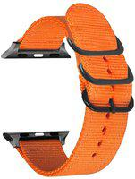 NGAGE NATO Nylon Strap Compatible with (42mm & 44mm) Watch Series 1-2-3-4-5-6-SE Smart Watch Strap(Orange)