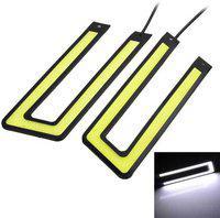 AutoSun Waterproof U Shape COB LED DRL for Toyota Innova Car Fancy Lights(White)