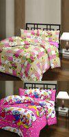 The Home Story Checkered, Cartoon Single Dohar(Cotton, Multicolor)