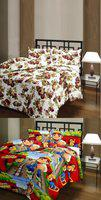 The Home Story Floral, Cartoon Single Dohar(Cotton, Multicolor)
