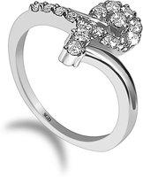 SUDIP G DESIGN 92.50 BIS HALLMARK SILVER PLATED SILVER RING|GIRLS & WOMENS Silver Zircon Sterling Silver Plated Ring