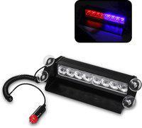 FABTEC Imaging LED Car Dash Strobe Flash Warning Light Police Car Styling Car Fancy Lights(Multicolor)