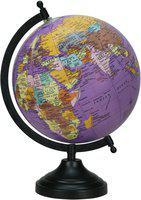 Globeskart Globeskart Purple Gemstone Desk & Table Top Political World Globe(Medium Purple)