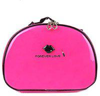 STRIPES Makeup Toiletry Kits & Bags For Women/Girls Pink Glossy Color Travel Toiletry Kit(Pink)