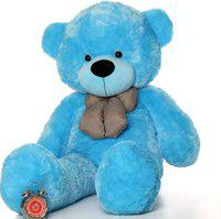 n b home teddy Bear 3.5 Feet Fabric furr Filled With Pure Fiber Attractive Teddy In Blue Colour - 40 inch(Blue)