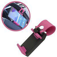 Bastex Car Mobile Holder for Steering(Pink)