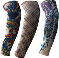 Golddust Nylon Arm Sleeve For Men & Women With Tattoo(L, Multicolor)