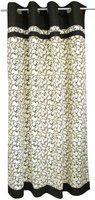 Adt Saral Cotton Multicolor Printed Ring Rod Long Door Curtain(225 cm in Height, (7.2 ft), Single Curtain)