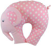 GuzelWorld Polka Dots Bed/Sleeping Pillow Pack of 1(Pink)