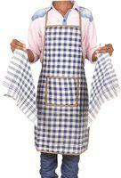 Jass Home Decor Blue Cotton Kitchen Linen Set(Pack of 3)