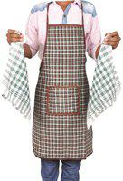 Jass Home Decor Brown Cotton Kitchen Linen Set(Pack of 3)