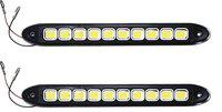 Auto Hub Flexible LED Daytime Running Car Fancy Lights(White)