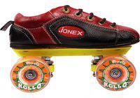 JJ Jonex SUPERIOR QUALITY SHOE Quad Roller Skates - Size 11 UK(Black, Red)