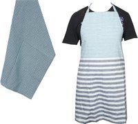 Jass Home Decor Blue Cotton Kitchen Linen Set(Pack of 2)
