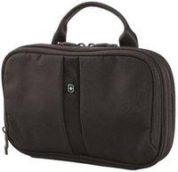 Victorinox Lifestyle Accessories 4.0 Zip-Around 3-Section Travel Toiletry Kit(Black)
