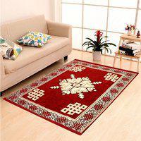 New Trends Maroon Cotton Carpet(121 cm X 183 cm)