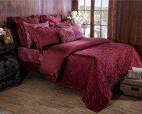 Maspar Queen Cotton Duvet Cover(Red)