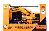 10thplanetsales Remote Control Jcb Construction Shovel Loader Excavator Truck Toy(Yellow)