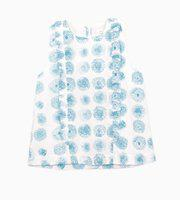 My Little Lambs Baby Girls Casual Cotton Blend Top(Blue, Pack of 1)