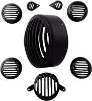 Auto Stylist ASBULL35016 Bike Headlight Grill(Black)