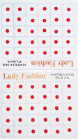 Lady Fashion Matching Plaza 0202201602 Forehead Red Bindis(Stick On)
