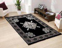 NEW TRENDS Black Cotton Carpet(121 cm X 183 cm)