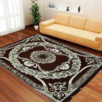 NEW TRENDS Brown Cotton Carpet(121 cm  X 183 cm)