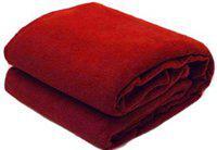 Jass Home Decor Plain Double Blanket(Microfiber, Red)