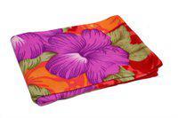 Jass Home Decor Printed Double Blanket(Microfiber, Purple)