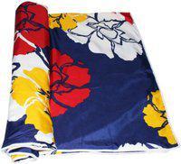 Color Fall Floral Single Dohar(Poly Cotton, Multicolor)
