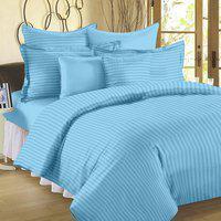 Ahmedabad Cotton King Cotton, Satin Duvet Cover(Light Blue)