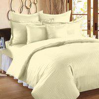 Ahmedabad Cotton Single Cotton, Satin Duvet Cover(Beige)
