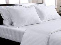 Trance Home Linen Single Cotton Duvet Cover(White)