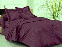 Trance Home Linen Single Cotton Duvet Cover(Purple)