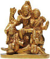 Brass Gift Center Brass Shiv Parivaar Statue Showpiece  -  8 cm(Brass, Yellow)