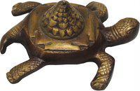Brass Gift Center Brass Tortoise Showpiece  -  7 cm(Brass, Brown, Yellow, Black)
